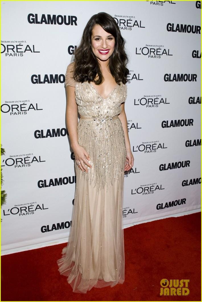 Aux 2011 Women of the Year Awards présentés par le magazine Glamour, dans une robe Jenny Packham.