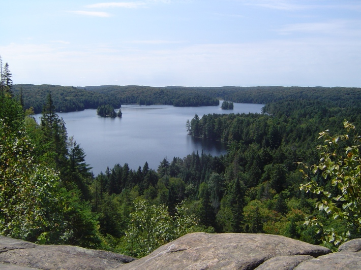 view of Cache Lake, Algonquin Provincial Park, Canada