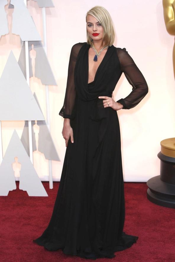 Margot+Robbie+Oscards+2015+Dress